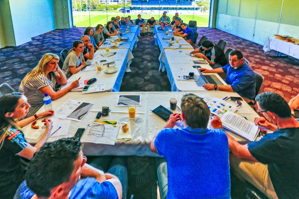 Sharks 2016 Pre GrandFinal Staff Meeting